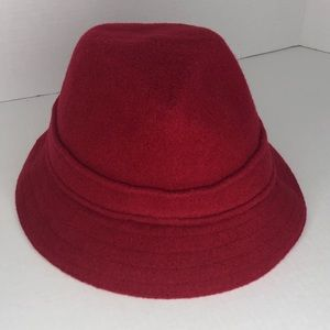 Kangol Red Wool Gaffer Trilby Hat Size Medium